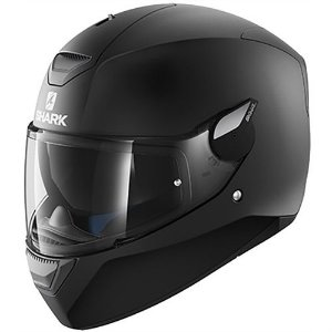 CAPACETE SHARK D-SKWAL BLANK PRETO FOSCO