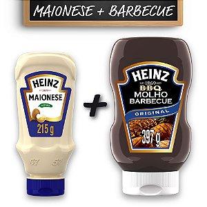 Kit c/ Maionese Heinz Tradicional 215g e Barbecue Heinz 397g