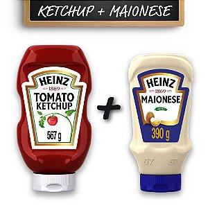 Kit c/ Ketchup Heinz Tradicional 567g e Maionese Heinz 390g