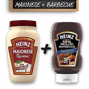 Kit c/ Maionese Heinz Receitas 405g + Molho Barbecue Heinz 397g