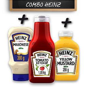 Kit c/ Ketchup Heinz  + Maionese Heinz + Mostarda Heinz