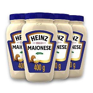 Kit c/ 4 Maioneses Heinz Tradicional 400g