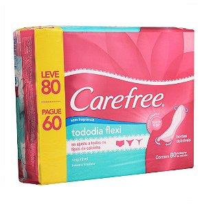 Protetores Diário CAREFREE Todo Dia Flexi sem Perfume Leve 80 pague 60