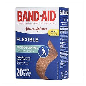 Curativos BAND AID Flexível 20 unidades