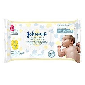 Lenços Umedecidos JOHNSON'S Baby Recém Nascido Sem Fragrância 48 unidades