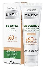 Neostrata Minesol Oil Control Fluido com cor FPS 60 40g