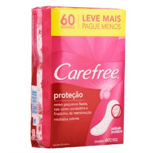 Protetor Diário CAREFREE Proteção com Perfume 60 unidades Leve mais pague menos