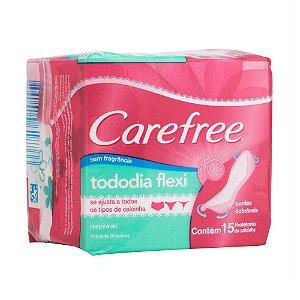 Protetor Diário CAREFREE Todo Dia Flexível Sem Perfume 15 unidades