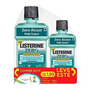 Antisséptico Bucal Listerine Zero Leve 500ml + 250ml