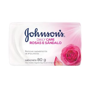 Sabonete em Barra Johnson's Daily Care Rosas e Sândalo 80g