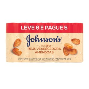 Sabonete em Barra Johnson's Nutrispa Amêndoas 80g - Promopack Leve 6 Pague 5