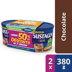 Sustagen Kids Sabor Chocolate - Kit Lata 2x380g