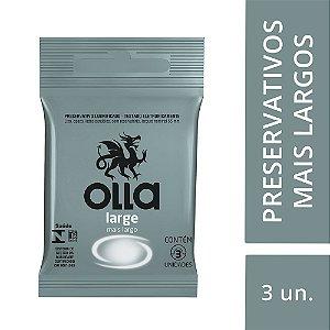 Preservativo OLLA Lubrificado Large 3 unidades