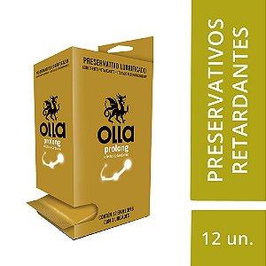 Preservativo OLLA Lubrificado Prolong Display com 12 unidades