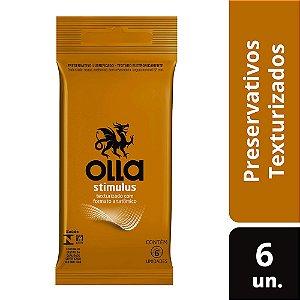 Preservativo OLLA Lubrificado Stimulus 6 unidades