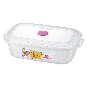 Pote Retangular para Alimentos Plástico Sanremo