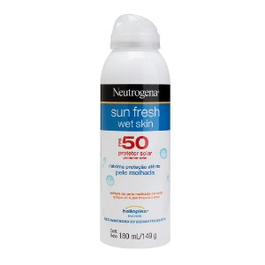 Protetor Solar Wet Skin NEUTROGENA Sun Fresh FPS 50 180ml