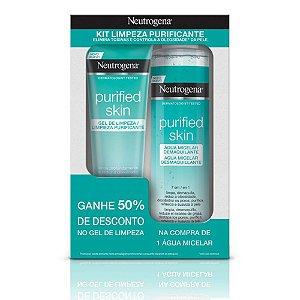 Promopack Neutrogena Purified Skin - Compre 1 Água Micelar, ganhe 50% de desconto no Gel de Limpeza 80g