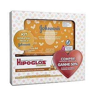 Kit Hipoglós Amêndoas 80g+Toalhas Umedecidas Johnsons c/44