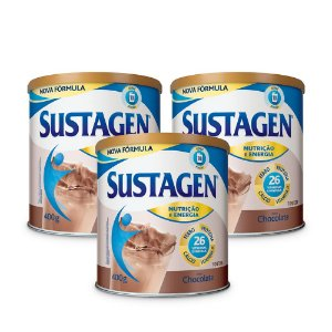 Kit c/ 3 Sustagen NE 400g Chocolate