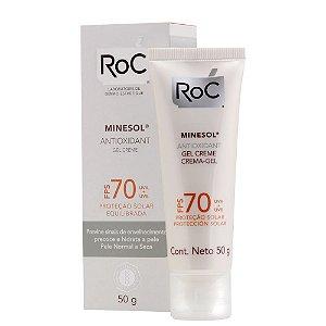 Protetor Solar ROC MINESOL Antioxidante FPS 70 50g