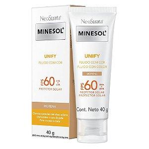 Protetor Solar Facial Neostrata Minesol Unify Fluido com cor Pele Morena FPS 60 40G