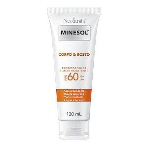 Neostrata Minesol Corpo e Rosto Protetor Solar Fluido Hidratante FPS 60 120 ml