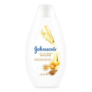 Hidratante Nutri Spa Reparadora JOHNSON'S Óleo de Amendoas, Argan e Karité 400ml
