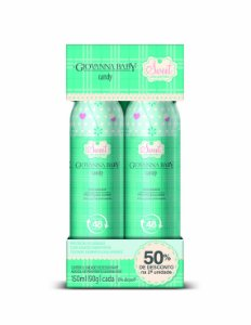 Pack c/ 2 Desodorante Aerossol Giovanna Baby Candy 150 ml