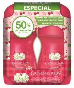 Pack c/2 Desodorante Rollon Giovanna Baby Cherry 50 ml