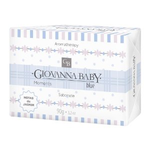 Sabonete Retangular Blue Giovanna Baby Moments 90 g