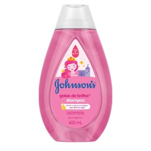 Kit c/ 3 Shampoo JOHNSON'S Baby Gotas de Brilho 400ml