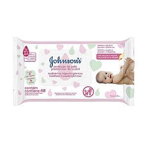 Kit c/ 6 Lenço Umedecido JOHNSON'S Baby Extra Cuidado 48 unidades