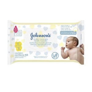 Kit com 2 Lenços Umedecidos JOHNSON'S Baby Recém Nascido Sem Fragrância com 48 unidades