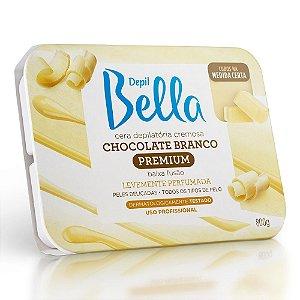 Cera Quente em Barra Depil Bella Cremosa Chocolate Branco 800g
