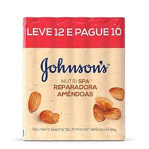 Promopack Sabonete em Barra Johnson's Nutrispa Amêndoas 80g - Leve 12 Pague 11