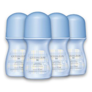 Kit c/ 4 Desodorante Rollon Giovanna Baby Blue 50ml