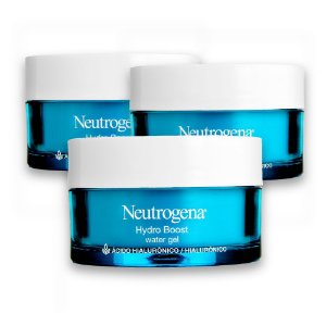 Kit com 3 Hidratantes Facial NEUTROGENA Hydro Boost Water Gel 50g