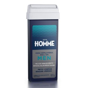 Refil Cera Depilatória Roll-On Depil Homme Masculino Deo 100g