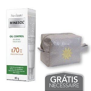 Na compra de 1 Neostrata Minesol Oil Control FPS 70 40g Leve 1 Necessaire Prata c/ Glitter Minesol