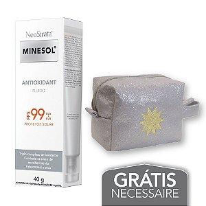 Na compra de 1 Neostrata Minesol Antioxidant FPS99 40g Leve 1 Necessaire Prata com Glitter Minesol