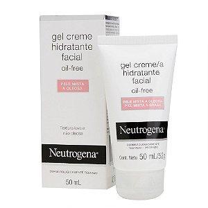 Na compra de 1 Gel Creme Hidratante Facial NEUTROGENA Oil Free para Pele Mista a Oleosa 50ml Leve 1 Porta Cartão Neutrog