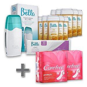 Kit Depilação Roll-on Depil Bella + 2 Carefree 40un