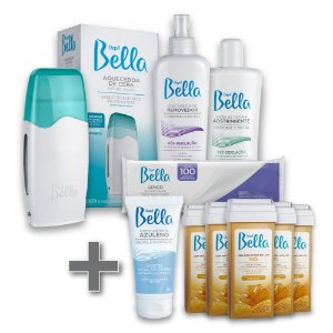 Kit Depilação Roll-on Depil Bella + 1 Creme Azuleno Depil Bella Deo 50g