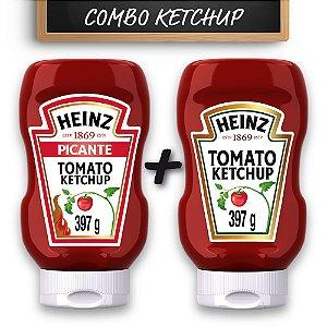 Kit c/ Ketchup Heinz Picante e Ketchup Heinz Tradicional 397g