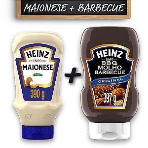 Kit c/ Maionese Heinz Tradicional 390g e Barbecue Heinz 397g