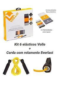 Kit 6 elásticos Vollo + Corda Everlast