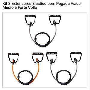 Kit 3 Extensores Elástico - Fraco, Médio E Forte Vollo
