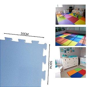 TATAME EVA 1,50X1 MT ESP 10MM AZUL - 6 PLACAS 50X50 CM