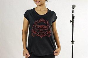 T-shirt em pedraria